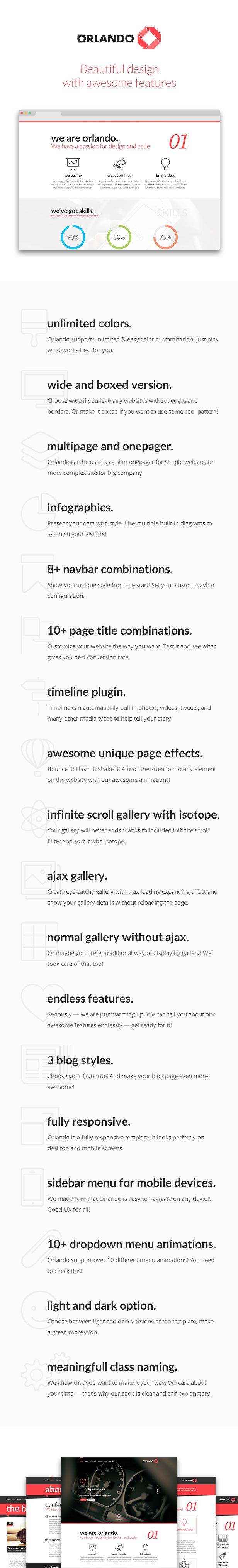 Orlando - Creative Infographics HTML Template